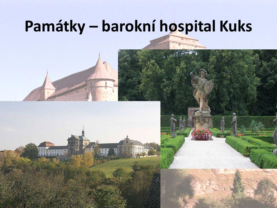 Památky – barokní hospital Kuks