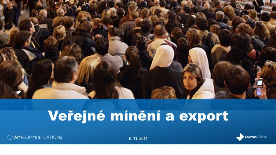 Veřejné mínění a export 6. 11. 2014