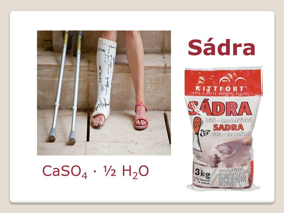 Sádra CaSO 4 · ½ H 2 O
