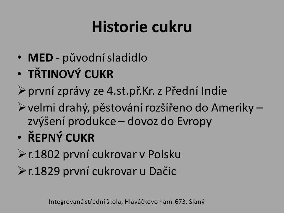 Historie cukru MED - původní sladidlo TŘTINOVÝ CUKR  první zprávy ze 4.st.př.Kr.
