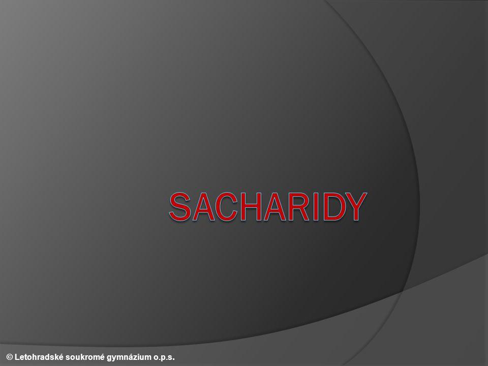 Sacharosa – vzorec II. © Letohradské soukromé gymnázium o.p.s.