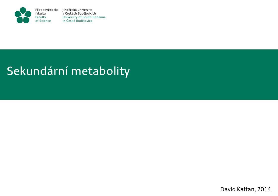 Sekundární metabolity David Kaftan, 2014