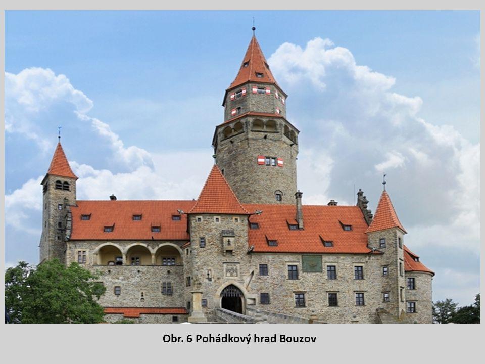 Obr. 6 Pohádkový hrad Bouzov