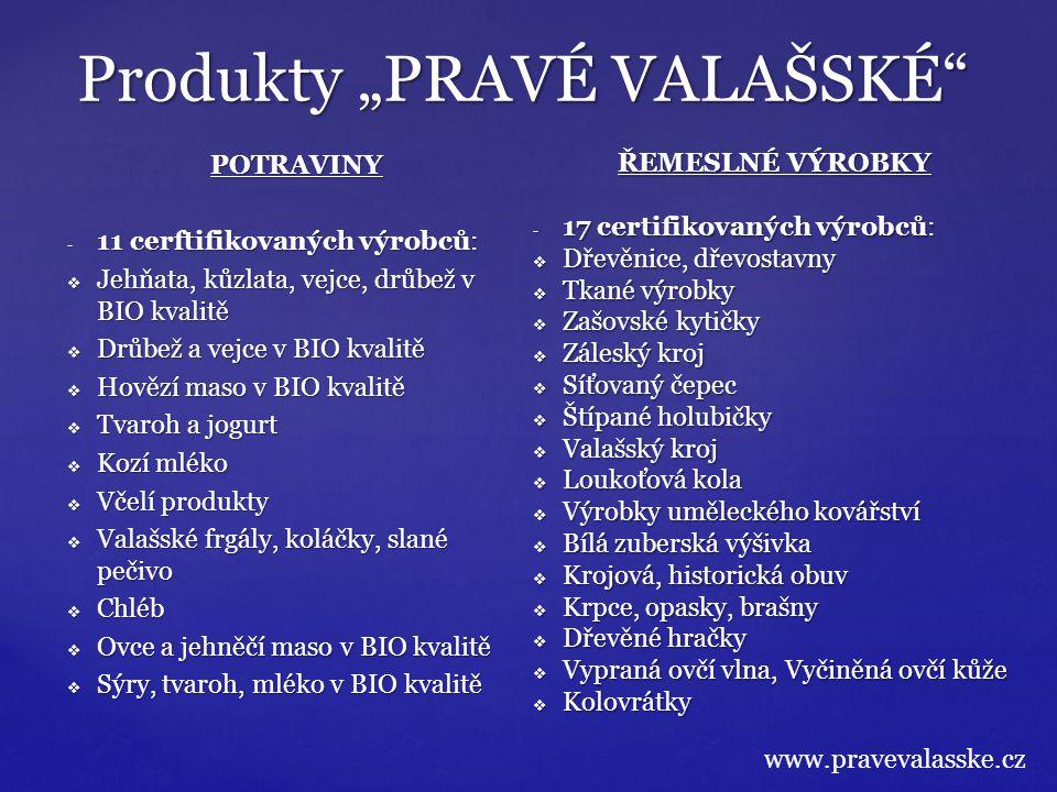 """Produkty """"PRAVÉ VALAŠSKÉ"""" POTRAVINY - 11 cerftifikovaných výrobců:  Jehňata, kůzlata, vejce, drůbež v BIO kvalitě  Drůbež a vejce v BIO kvalitě  Ho"""