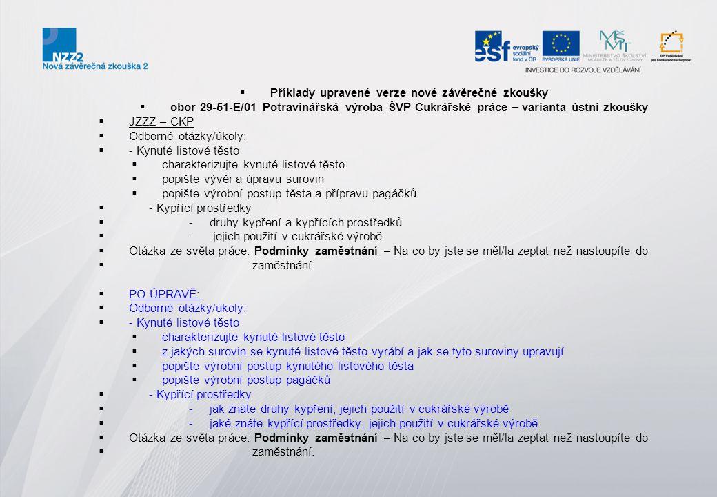  Příklad upravené verze učebního oboru  33-59-H/01 Čalouník ŠVP Čalouník a dekoratér  33 – 59 – H / 01 – čalouník  Ústní zkouška  Téma č.