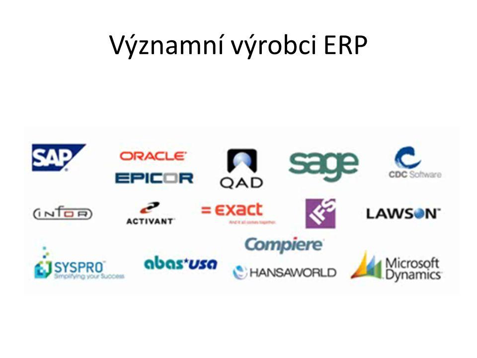 Významní výrobci ERP