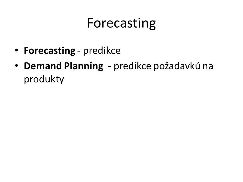 Forecasting Forecasting - predikce Demand Planning - predikce požadavků na produkty