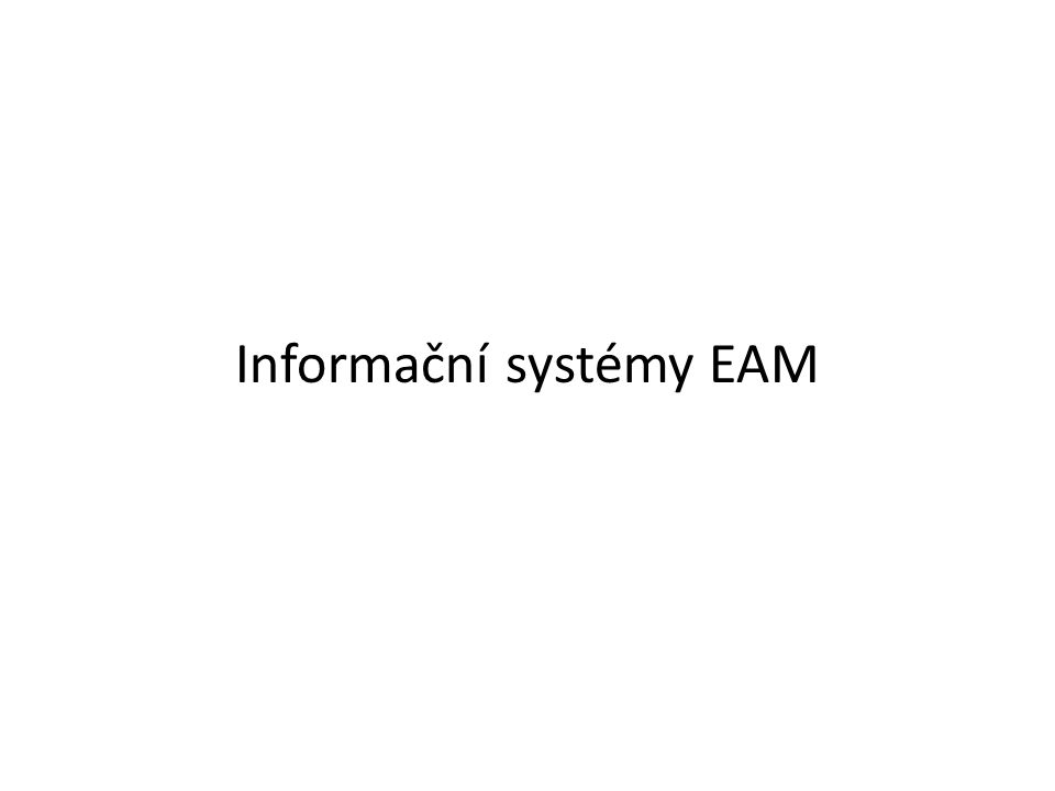 Informační systémy EAM