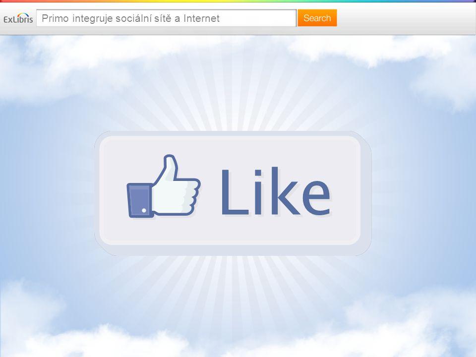 Primo integruje sociální sítě a Internet