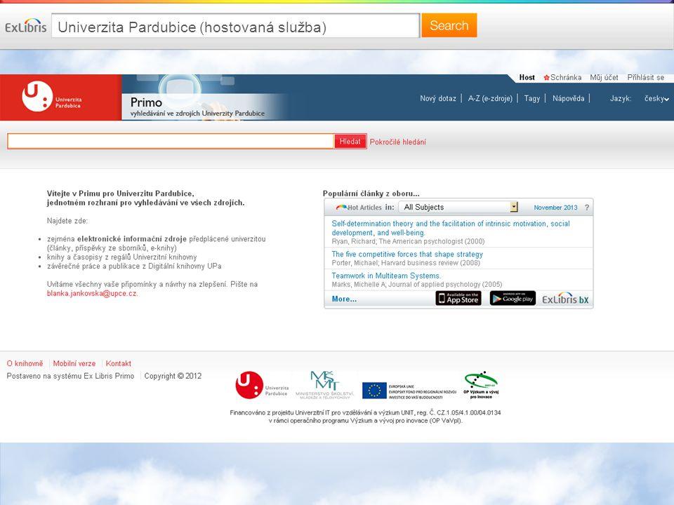 Univerzita Pardubice (hostovaná služba)