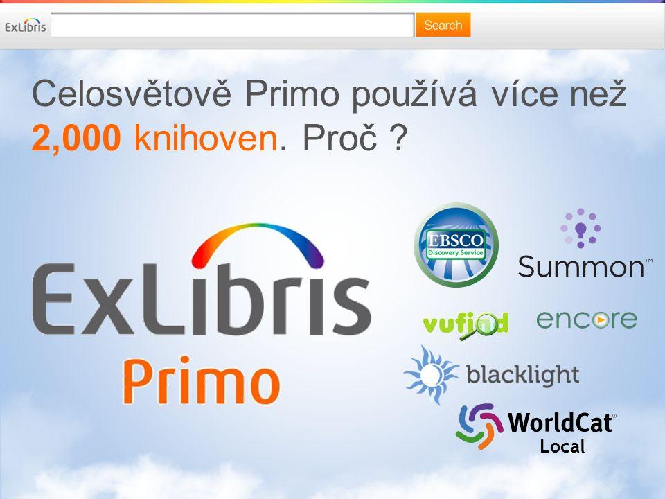 Celosvětově Primo používá více než 2,000 knihoven. Proč Local