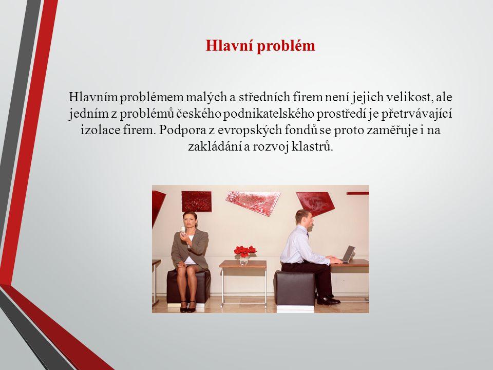 Hlavní problém Hlavním problémem malých a středních firem není jejich velikost, ale jedním z problémů českého podnikatelského prostředí je přetrvávající izolace firem.