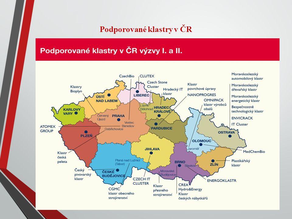 Podporované klastry v ČR