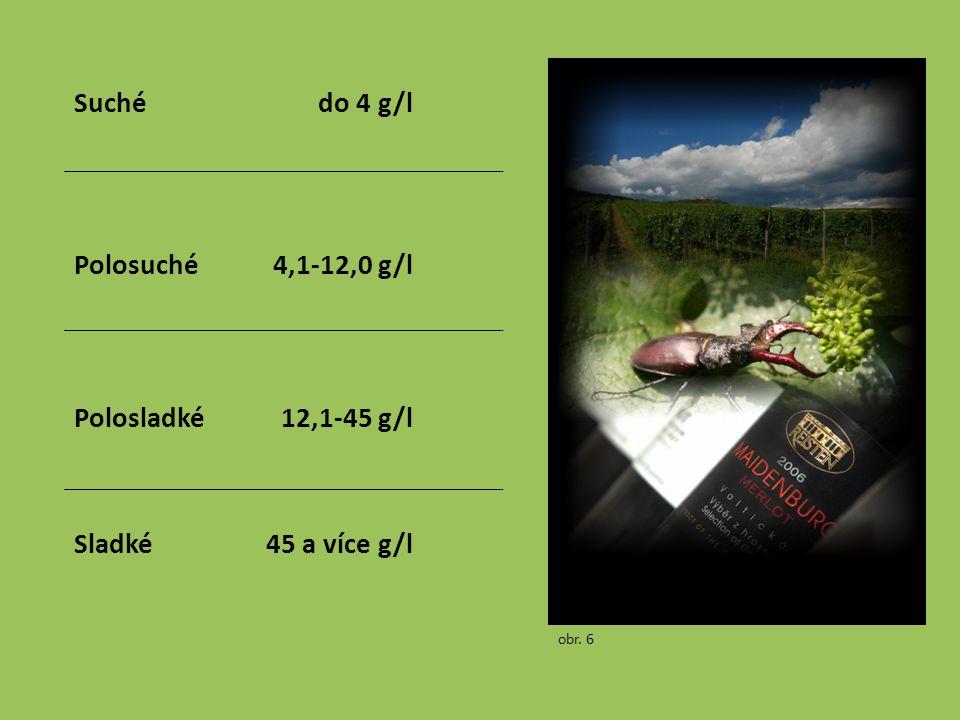 Suchédo 4 g/l Polosuché4,1-12,0 g/l Polosladké12,1-45 g/l Sladké45 a více g/l obr. 6