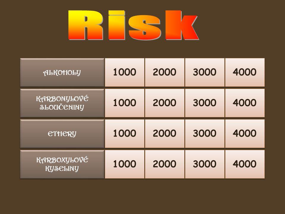 ALKOHOLY 1000 Otázka: Uveďte obecný vzorec alkoholů.