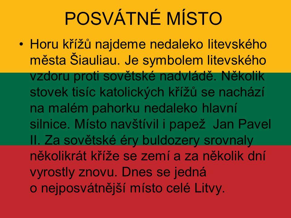 POSVÁTNÉ MÍSTO Horu křížů najdeme nedaleko litevského města Šiauliau. Je symbolem litevského vzdoru proti sovětské nadvládě. Několik stovek tisíc kato