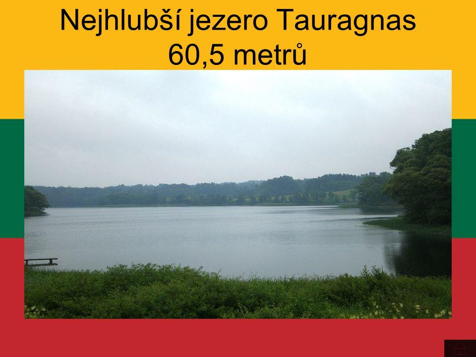Nejhlubší jezero Tauragnas 60,5 metrů