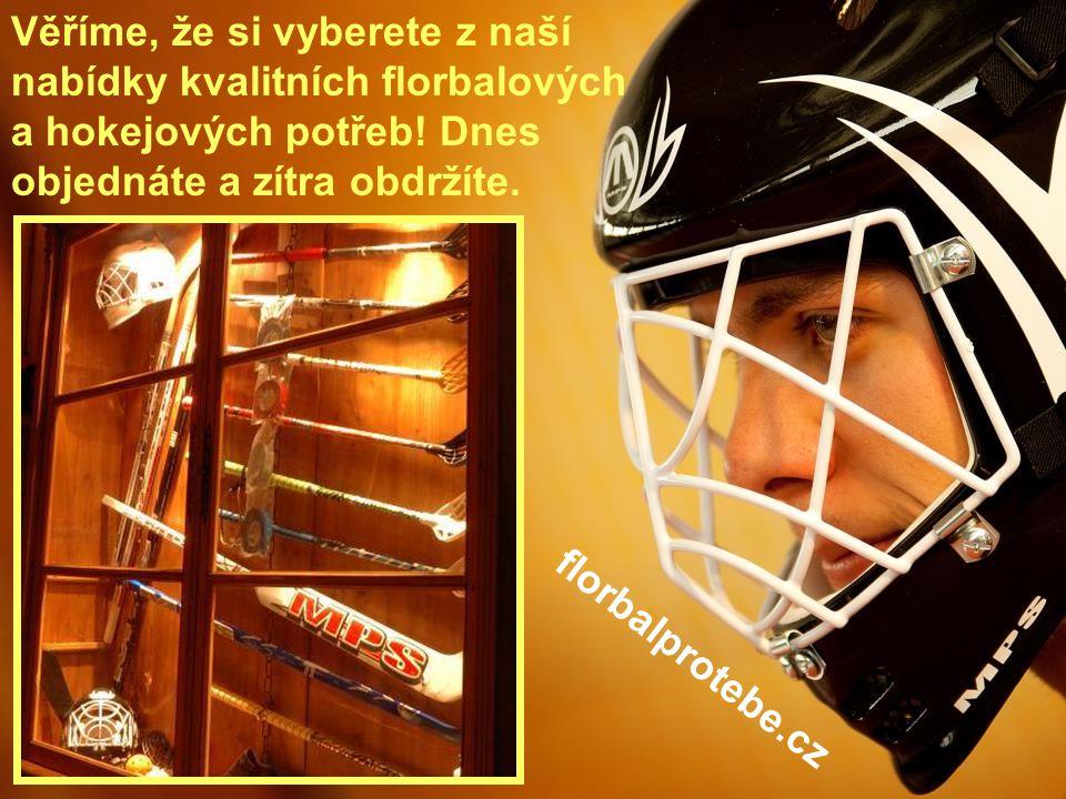 6 Věříme, že si vyberete z naší nabídky kvalitních florbalových a hokejových potřeb! Dnes objednáte a zítra obdržíte. florbalprotebe.cz