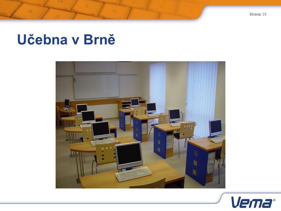 Strana: 31 Učebna v Brně