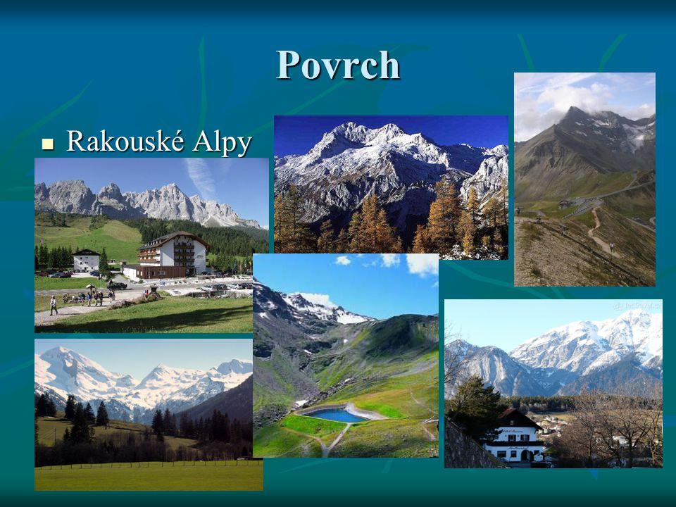 Povrch Rakouské Alpy Rakouské Alpy