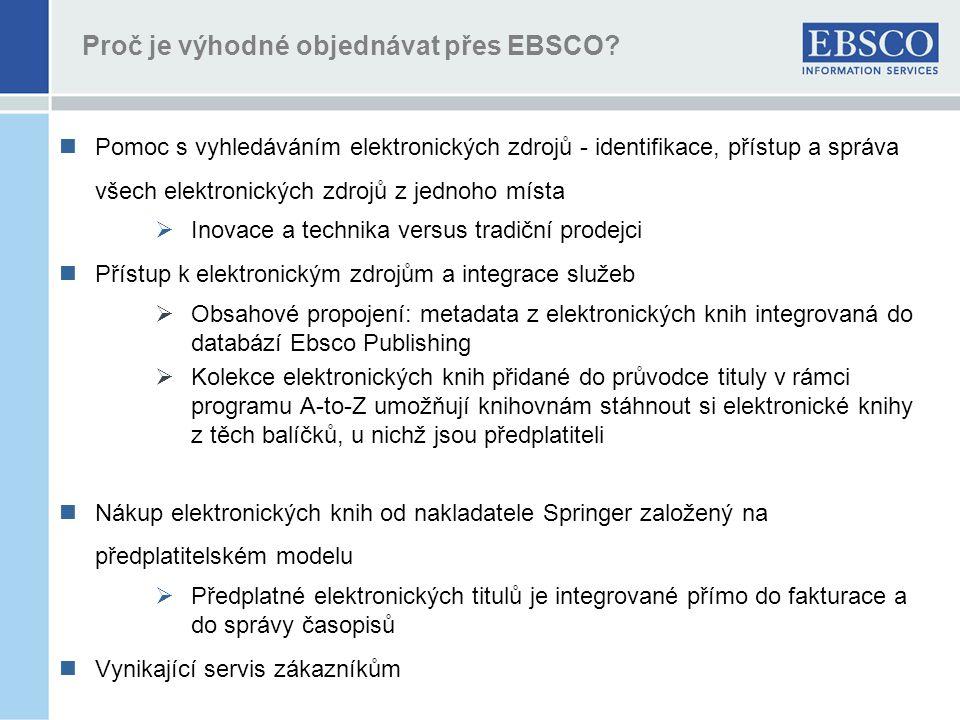 Proč je výhodné objednávat přes EBSCO.
