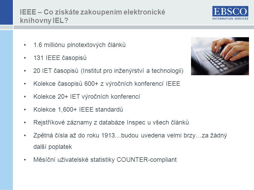 IEEE – Co získáte zakoupením elektronické knihovny IEL.