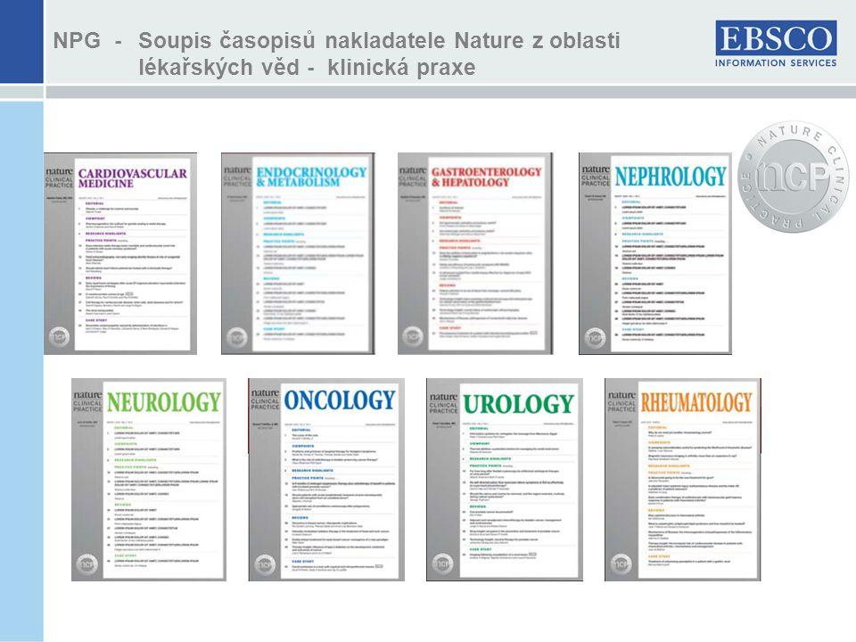 NPG - Soupis časopisů nakladatele Nature z oblasti lékařských věd - klinická praxe