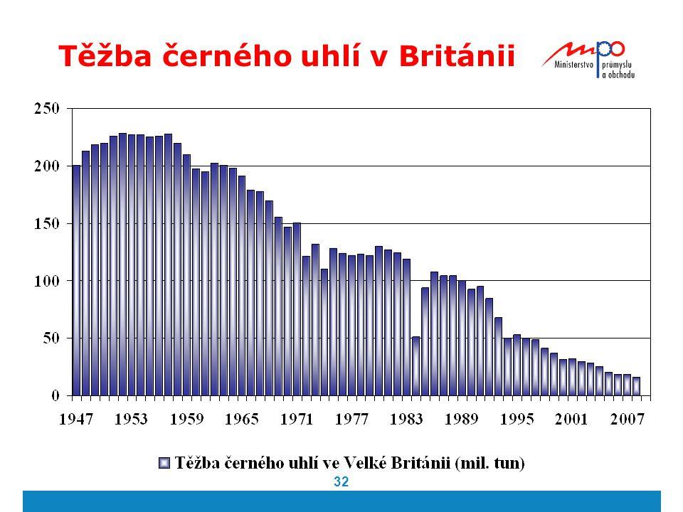 32 Těžba černého uhlí v Británii