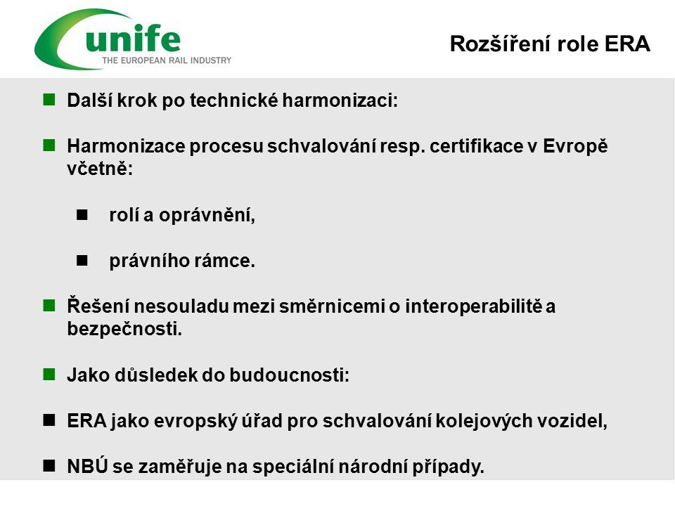 Další krok po technické harmonizaci: Harmonizace procesu schvalování resp.