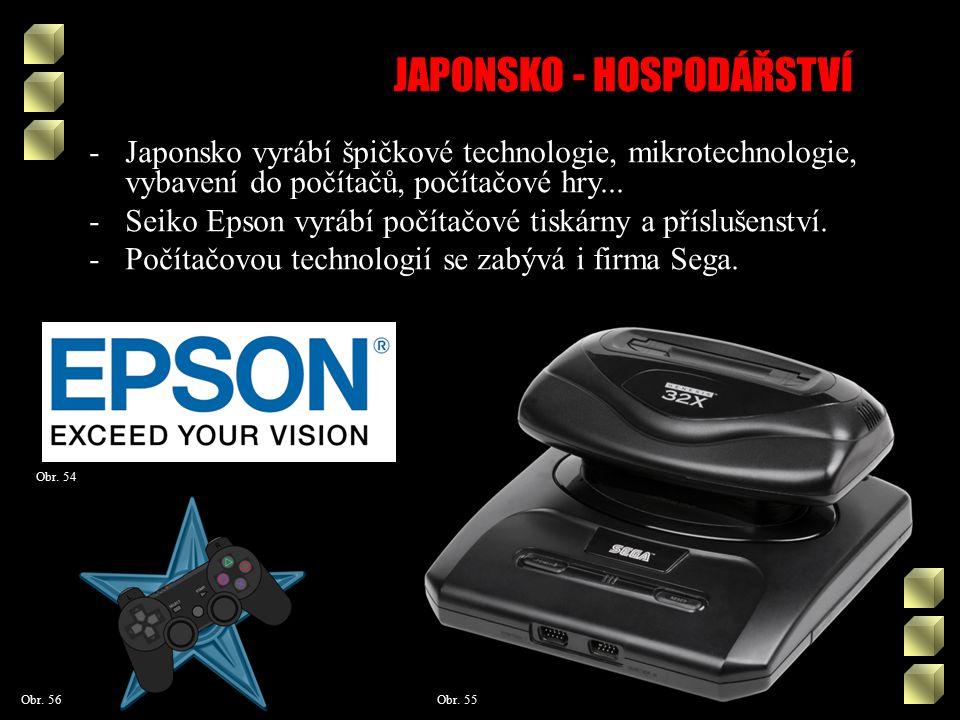 JAPONSKO - HOSPODÁŘSTVÍ Obr. 55 Obr.