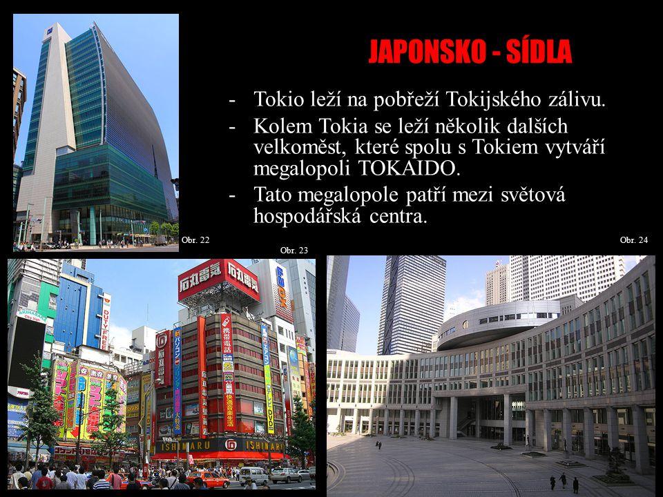 JAPONSKO - SÍDLA Obr.25 Obr. 27Obr. 26 -Mezi další významná města patří např.