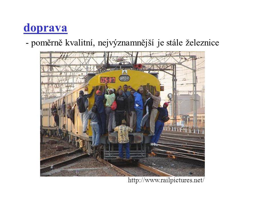 doprava - poměrně kvalitní, nejvýznamnější je stále železnice http://www.railpictures.net/