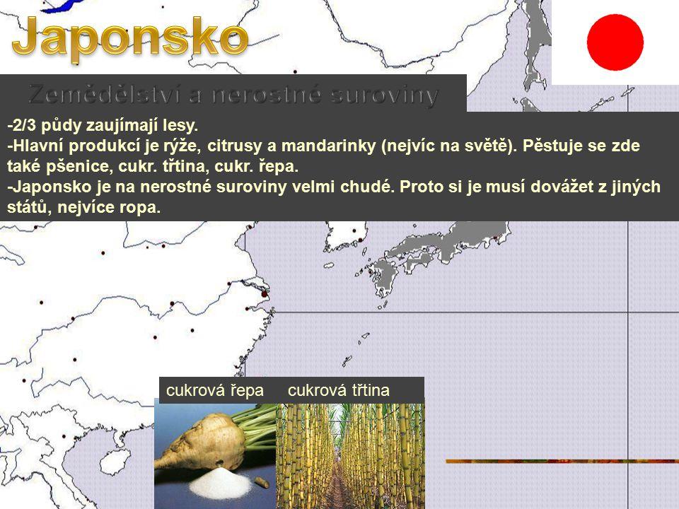 -2/3 půdy zaujímají lesy.-Hlavní produkcí je rýže, citrusy a mandarinky (nejvíc na světě).