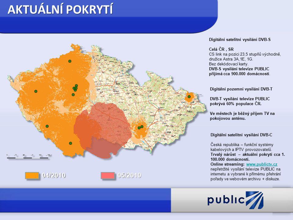 Digitální satelitní vysílání DVB-S Celá ČR, SR CS link na pozici 23,5 stupňů východně, družice Astra 3A,1E, 1G.