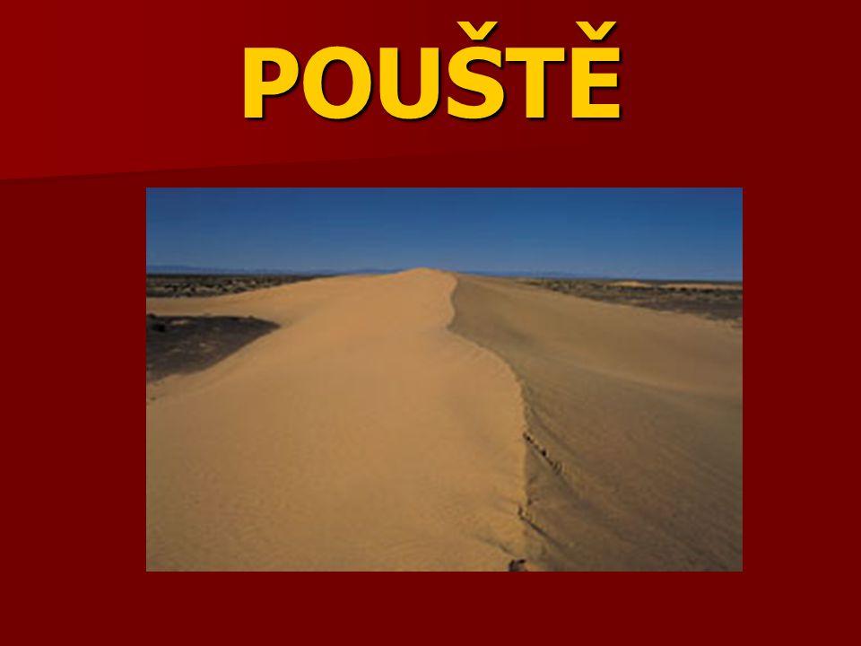 Co je to poušť?