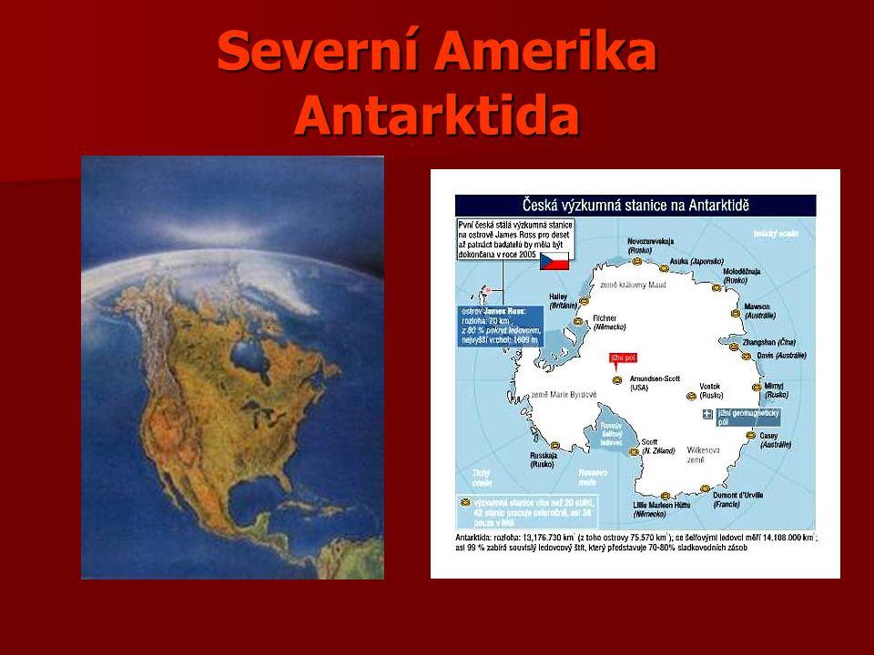 Severní Amerika Antarktida