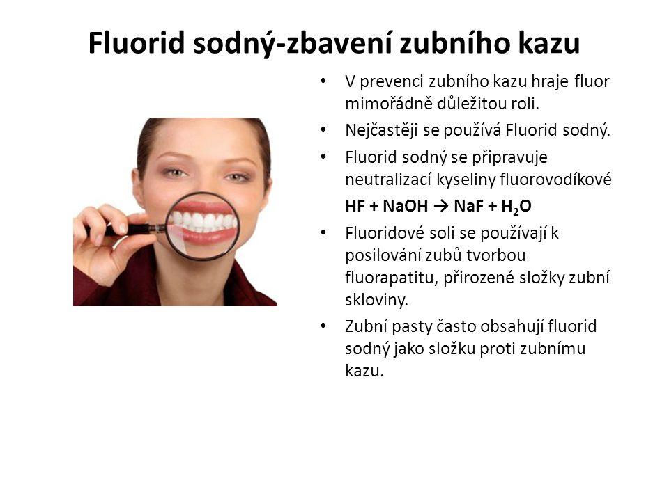 Fluoridace Přítomnost fluoridu v našem organismu zvyšuje odolnost zubů proti zubnímu kazu.