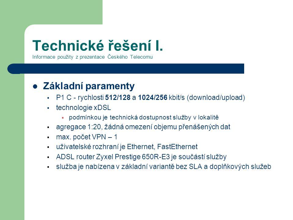 Technické řešení I.
