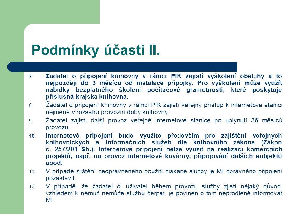 Podmínky účasti II. 7.