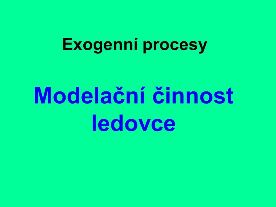 Exogenní procesy Modelační činnost ledovce