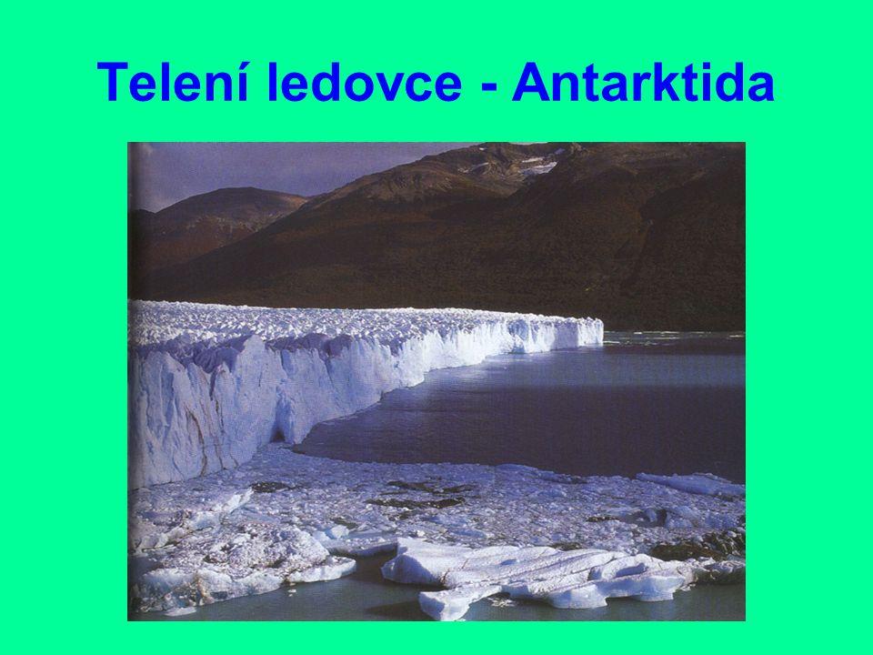 Typy ledovců Na horách v příznivých polohách vzniká rozsahem i mocností daleko menší- horský ledovec.