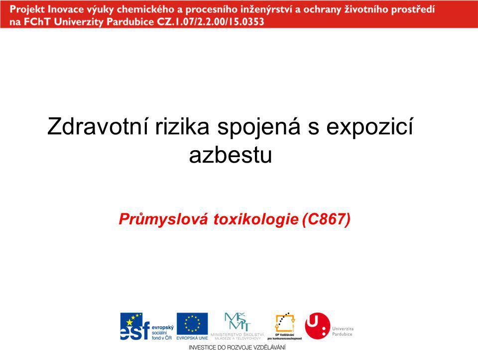 Zdravotní rizika spojená s expozicí azbestu Průmyslová toxikologie (C867)