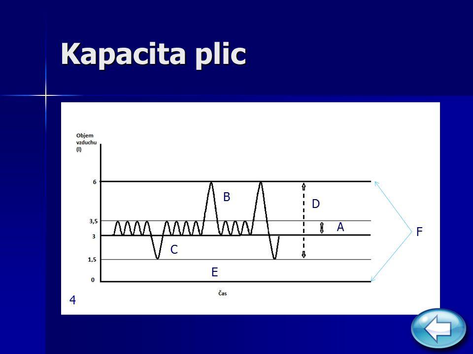 Kapacita plic A F B C D E 4