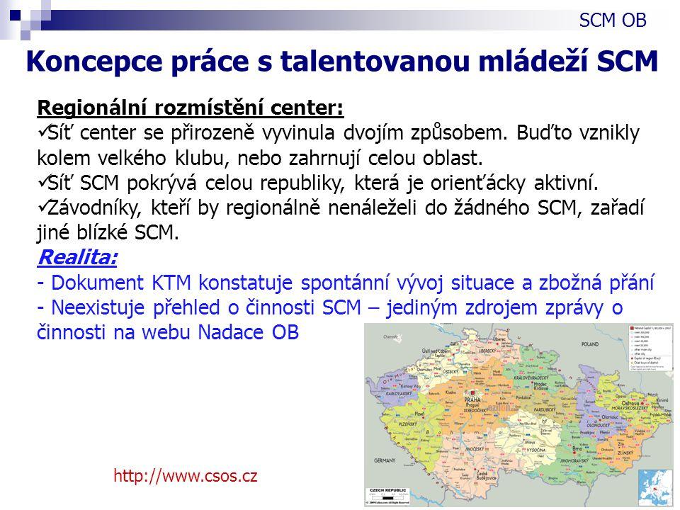 http://www.csos.cz Regionální rozmístění center: Síť center se přirozeně vyvinula dvojím způsobem.