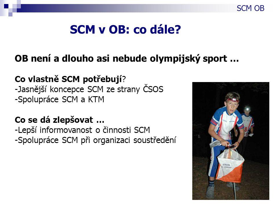 OB není a dlouho asi nebude olympijský sport … Co vlastně SCM potřebují.