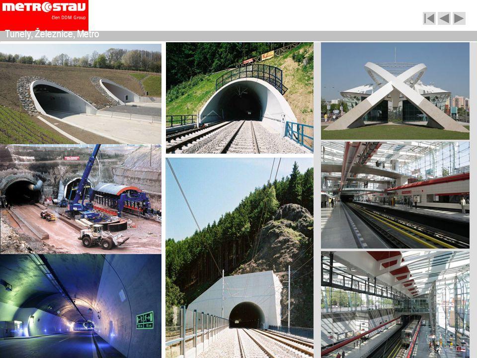 Tunely, Železnice, Metro