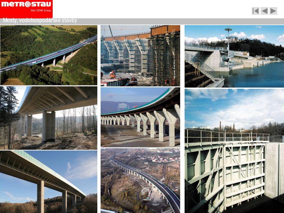 Mosty, vodohospodářské stavby