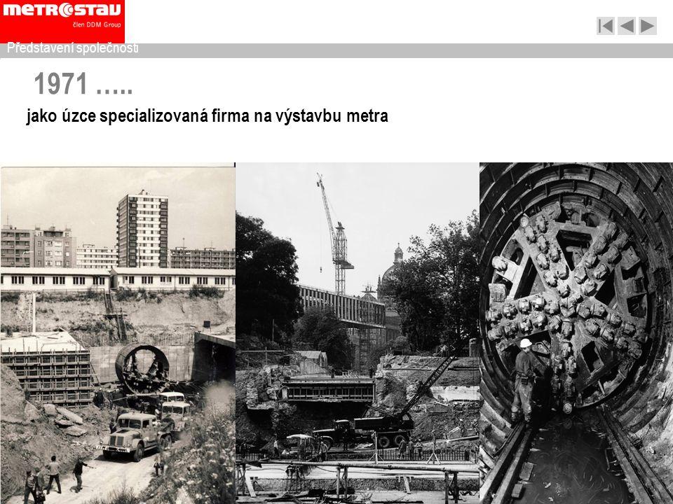 1971 ….. jako úzce specializovaná firma na výstavbu metra Představení společnosti