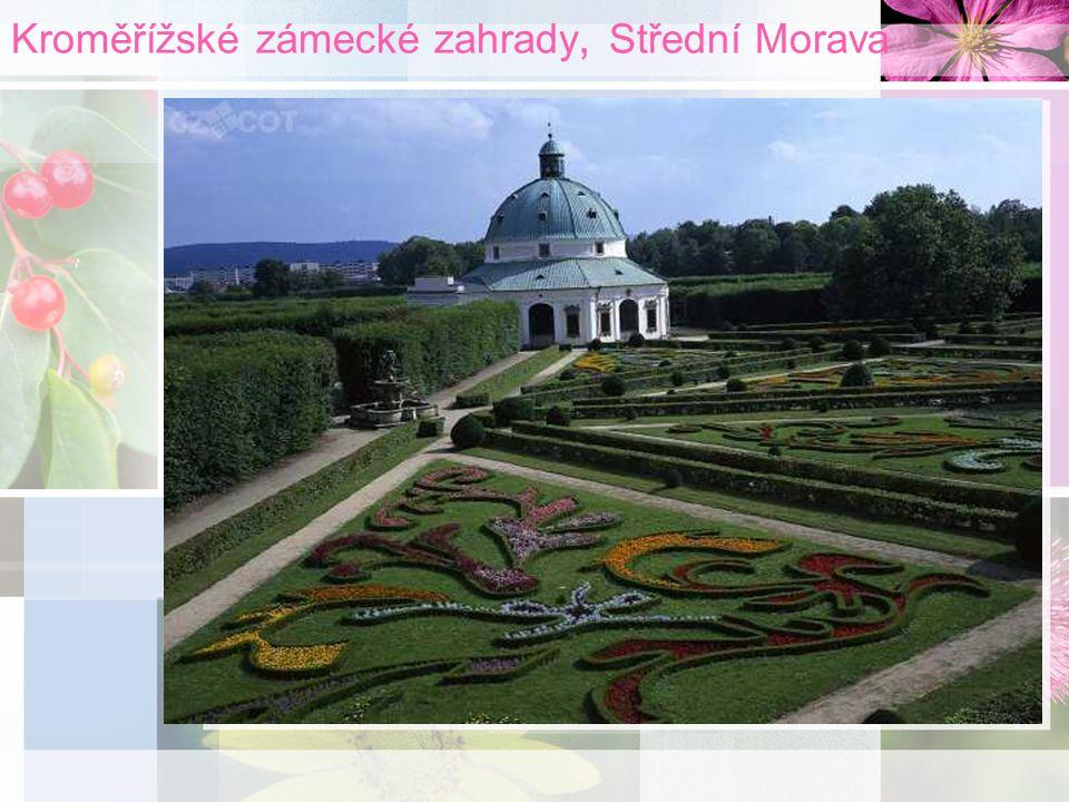 Kroměřížské zámecké zahrady, Střední Morava