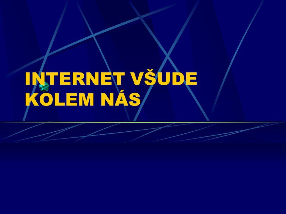 INTERNET Čím dál nezbytnější nástroj pro komunikaci a získávání informací.